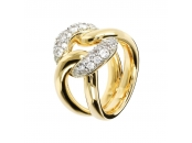 ALTISSIMA BRONZALLURE GOLDEN FANCY RING WITH CZ GEMSTONE - WSBZ01210Y