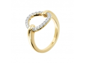ALTISSIMA BRONZALLURE GOLDEN FANCY RING WITH OPEN CIRCLE ELEMENT - WSBZ01266Y