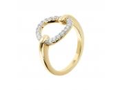 ALTISSIMA BRONZALLURE GOLDEN FANCY RING WITH OPEN CIRCLE ELEMENT - WSBZ01266Y