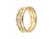 ALTISSIMA BRONZALLURE GOLDEN SET OF 3 SHINY CZ GEMSTONE RING - WSBZ00984Y