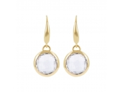 CHARISMA BRONZALLURE GOLDEN FACETED STONE DANGLE EARRING - WSBZ00308Y